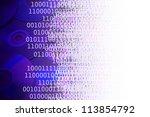 CDs and binary code - stock photo