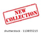 new collection rubber stamp... | Shutterstock .eps vector #113855215