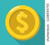 vector money icon of a gold...   Shutterstock .eps vector #1138554755