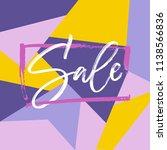 sale lettering in the frame on... | Shutterstock .eps vector #1138566836