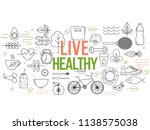 healthy lifestyle template.... | Shutterstock .eps vector #1138575038