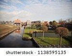 panoramic view of marken  a... | Shutterstock . vector #1138595135