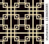 art deco pattern. seamless... | Shutterstock .eps vector #1138600085
