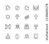 Religion Related Icons  Thin...