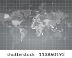 world map with textured... | Shutterstock .eps vector #113860192