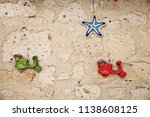 two bikes and s sea star... | Shutterstock . vector #1138608125