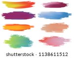 colorful paint stroke brushes... | Shutterstock .eps vector #1138611512