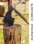 forged traditional ax beard... | Shutterstock . vector #1138613678