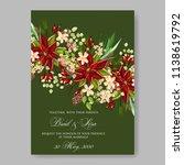 floral wedding invitation... | Shutterstock .eps vector #1138619792
