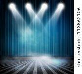 background in show. interior... | Shutterstock . vector #113862106
