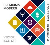 modern  simple vector icon set... | Shutterstock .eps vector #1138627376