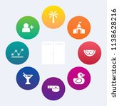 modern  simple vector icon set... | Shutterstock .eps vector #1138628216