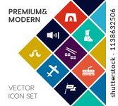 modern  simple vector icon set... | Shutterstock .eps vector #1138632506