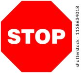 octogonal stop sign. vector... | Shutterstock .eps vector #1138634018