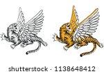 thai traditional tattoo   tiger ...   Shutterstock .eps vector #1138648412