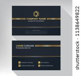 business model name card luxury ... | Shutterstock .eps vector #1138649822