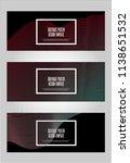 trendy geometric background. 3d ... | Shutterstock .eps vector #1138651532