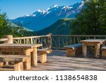 cafe in the mountains with a... | Shutterstock . vector #1138654838
