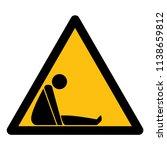 danger confined space symbol... | Shutterstock .eps vector #1138659812