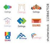 logos of ceilings  floors | Shutterstock .eps vector #1138667528