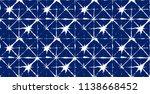 geo pattern  japanese kimono... | Shutterstock .eps vector #1138668452