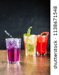 alcoholic and non alcoholic... | Shutterstock . vector #1138671548
