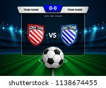 football scoreboard broadcast... | Shutterstock .eps vector #1138674455