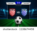 football scoreboard broadcast... | Shutterstock .eps vector #1138674458