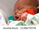 closeup of premature infant...   Shutterstock . vector #1138674578