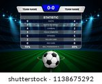 football soccer match... | Shutterstock .eps vector #1138675292