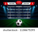 football soccer match... | Shutterstock .eps vector #1138675295