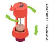 open wine bottle mechanical...   Shutterstock .eps vector #1138675595