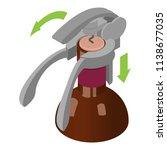 corkscrew icon. isometric of...   Shutterstock .eps vector #1138677035
