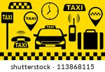 Transport Set Of Abstract Taxi...