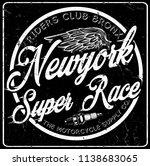 newyork typography vintage... | Shutterstock . vector #1138683065
