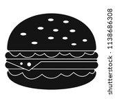 unhealthy burger icon. simple... | Shutterstock .eps vector #1138686308
