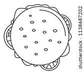 top view cheeseburger icon.... | Shutterstock .eps vector #1138687202