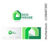 eco house logo. real estate... | Shutterstock .eps vector #1138687385