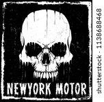 photo print skull t shirt... | Shutterstock . vector #1138688468