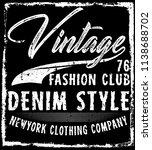 photo print vintage man t shirt ... | Shutterstock . vector #1138688702