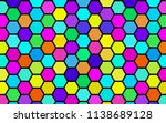 honeycomb many color ... | Shutterstock . vector #1138689128