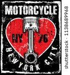 photo print vintage motorcycle... | Shutterstock . vector #1138689968