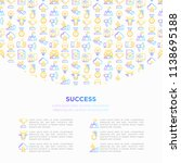 success concept with thin line... | Shutterstock .eps vector #1138695188