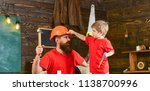 father  parent with beard in... | Shutterstock . vector #1138700996