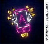 online casino neon icon...   Shutterstock .eps vector #1138706885