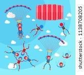 skydiving vector illustration...   Shutterstock .eps vector #1138708205