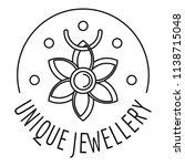 unique jewellery logo. outline...   Shutterstock .eps vector #1138715048