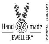 hand made jewellery logo....   Shutterstock .eps vector #1138715345