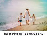 mother with kdis son and... | Shutterstock . vector #1138715672