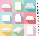orthopedic mattress squab... | Shutterstock .eps vector #1138719815